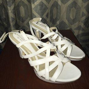 Naturalizer white prom heels